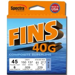 FINS 40G Braid - 150 yards - Blue