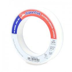 Triple Fish Fluorocarbon Leader - 100 Yards