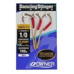 Owner Dancing Stinger Assist Hook - Extra Short