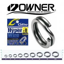 Owner Hyperwire Split Ring - Black Chrome