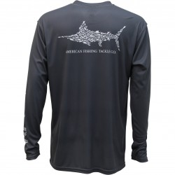 AFTCO Jigfish UV Protection Shirt - Charcoal