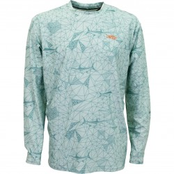 AFTCO Performance LS Fishing Shirt - Moonstone