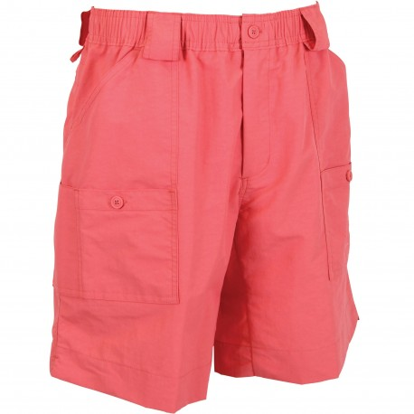 AFTCO Originl Mens Fishing Shorts Long - Coral