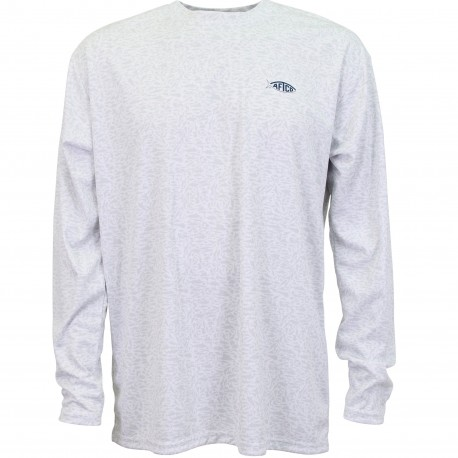 AFTCO Matrix LS Performance T Shirt - SILVER