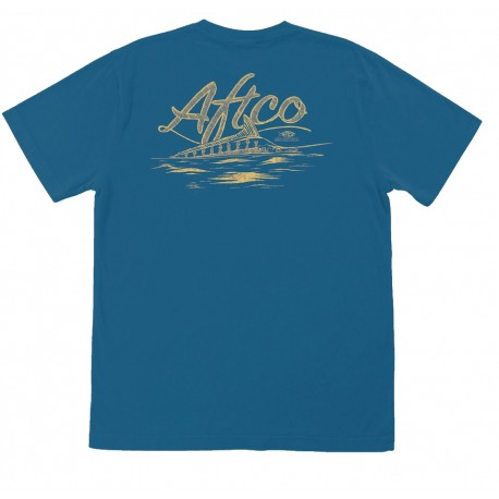 AFTCO HORIZON MENS S/S T - NAVY