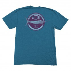 AFTCO SKYLIGHT T SHIRT - CYAN HEATHER