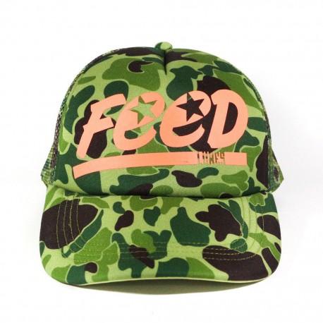 FEED JUNGLE READY CAP - Green Camo