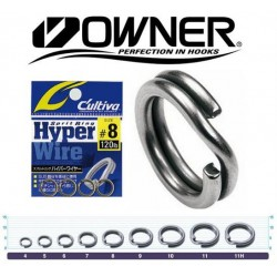 Owner Hyperwire Split Ring - Black Chrome