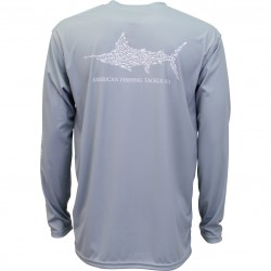AFTCO Jigfish UV Protection Shirt - LIGHT GRAY