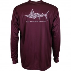 AFTCO Jigfish UV Protection Shirt - MALBEC