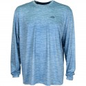 AFTCO VISIBILITY PERFORMANCE LS T SHIRT - SLATE BLUE