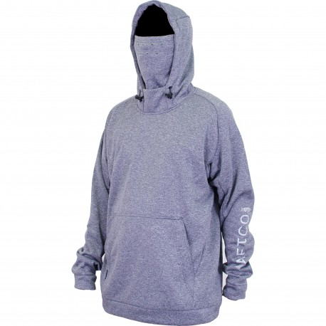 AFTCO REAPER TECHNICAL FLEECE HOODIE - NAVY HEATHER