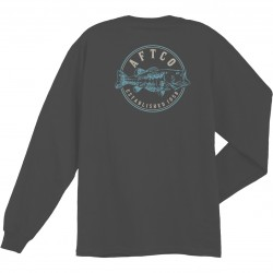 AFTCO PENNY LS T-SHIRTS - CHARCOAL HEATHER
