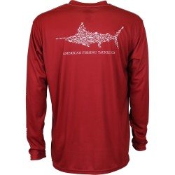 AFTCO Jigfish UV Protection Shirt - Chili