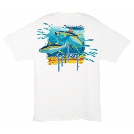 Guy Harvey Tuna Splash - White