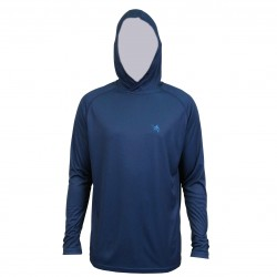 Guy Harvey Clipper Hood LS Performance Shirt - Navy