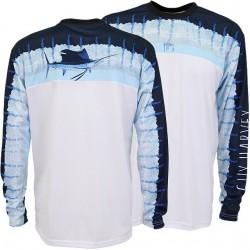 Guy Harvey Del Mar LS Performance Shirt - Sky Blue