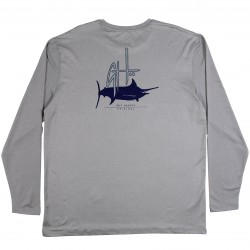 Guy Harvey Initial Logo LS Performance Shirt