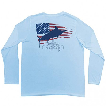 Guy Harvey Patriot LS - Blue