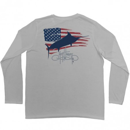 Guy Harvey Patriot LS - Silver