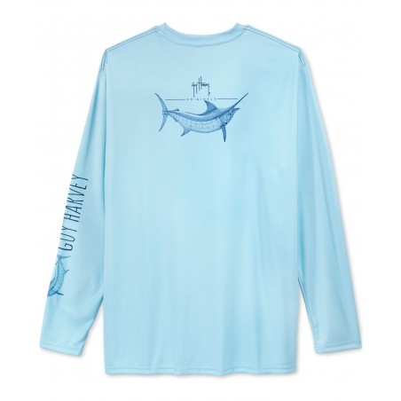 Guy Harvey Marlin Sketch LS...